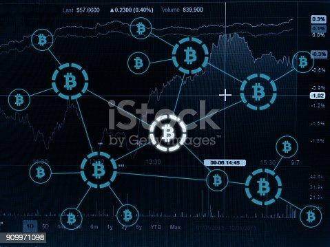 istock Bitcoin crypto currency payment system investment chart 909971098