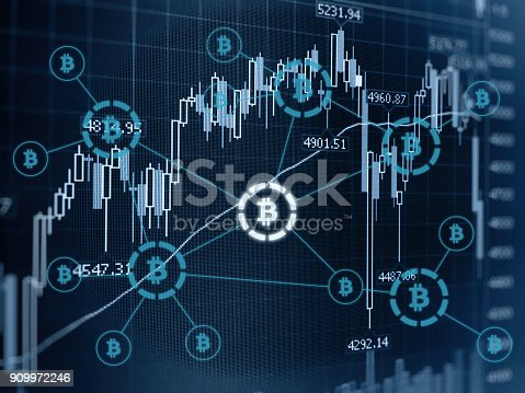istock Bitcoin crypto currency payment system investment chart 909972246