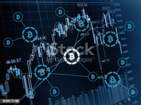 istock Bitcoin crypto currency payment system investment chart 909973186