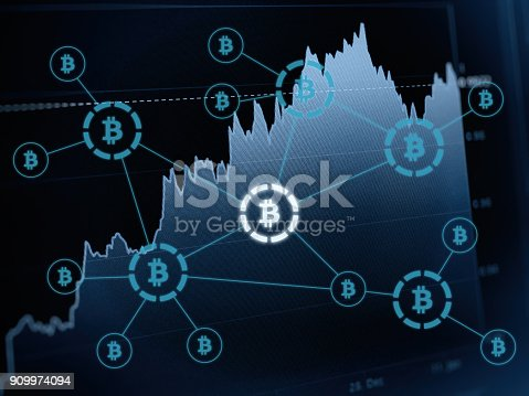 istock Bitcoin crypto currency payment system investment chart 909974094