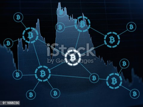 istock Bitcoin crypto currency payment system investment chart 911668230