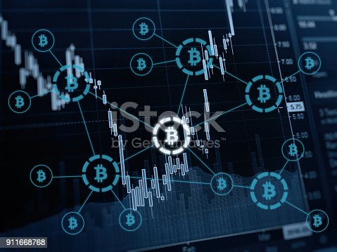 istock Bitcoin crypto currency payment system investment chart 911668768
