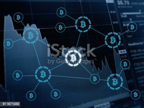 istock Bitcoin crypto currency payment system investment chart 911671030