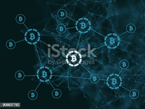 istock Bitcoin crypto currency payment system network security technology 906637762