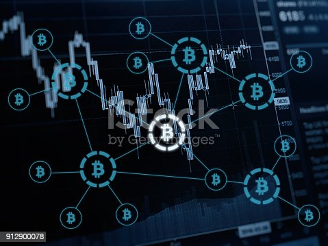 istock Bitcoin cryptocurrency payment system investment chart 912900078