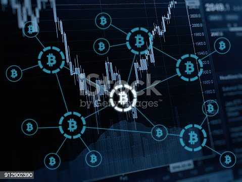 istock Bitcoin cryptocurrency payment system investment chart 912902390
