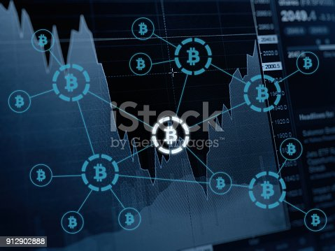 istock Bitcoin cryptocurrency payment system investment chart 912902888