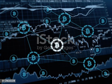 istock Bitcoin cryptocurrency payment system investment chart 912903228