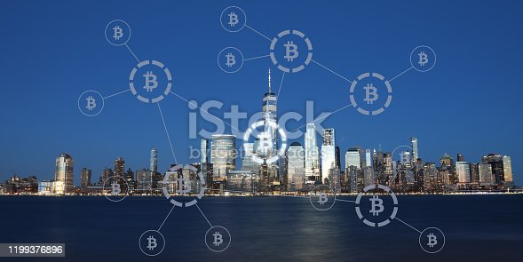 Bitcoin cryptocurrency payment system network modern city future technology