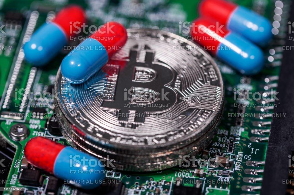 Bitcoin Cryptocurrency stock photo