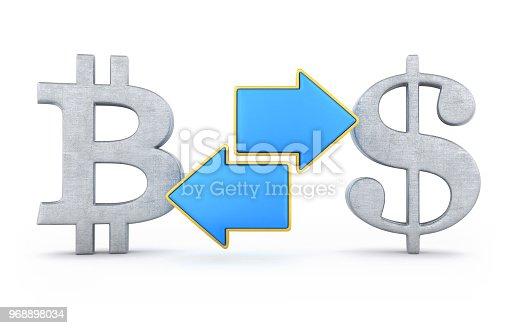 istock Bitcoin dollar exchange 968898034