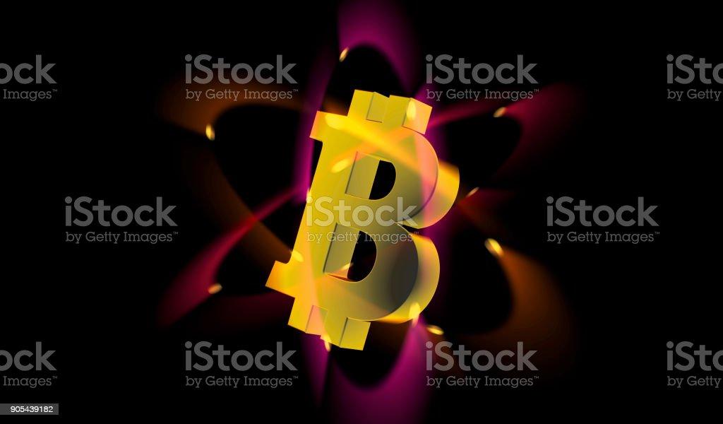 Bitcoin electron stock photo