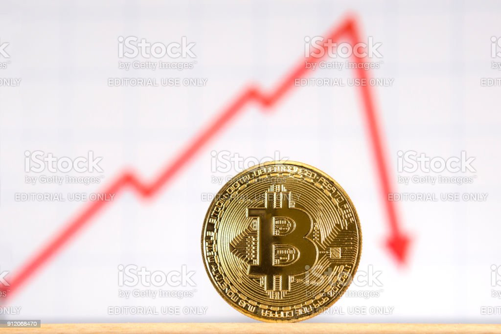 Bitcoin Graph stock photo