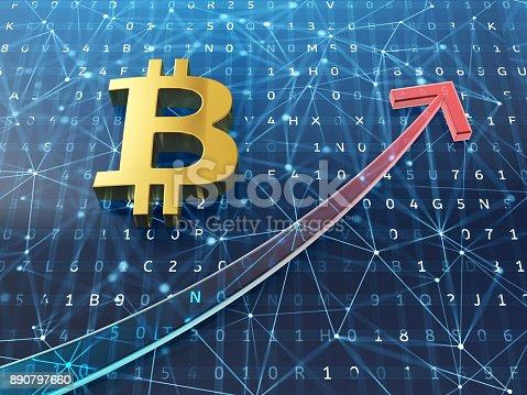 istock Bitcoin growth concept. 890797660