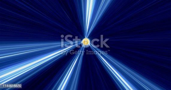 istock Bitcoin hypnotic loop  background 1144615520