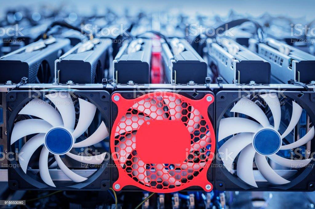 Bitcoin industry hardware. Cryptocurrency mining - Royalty-free Agricultural Machinery Stock Photo
