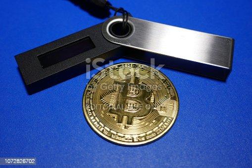 istock Bitcoin ledger wallet 1072826702