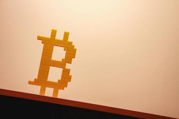 bitcoin logo stock photo