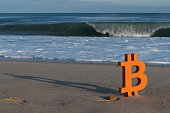 istock Bitcoin loves the energy of the ocean waves 1316969065