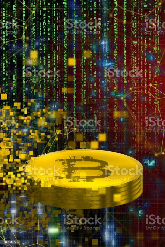 Bitcoin mining stock photo