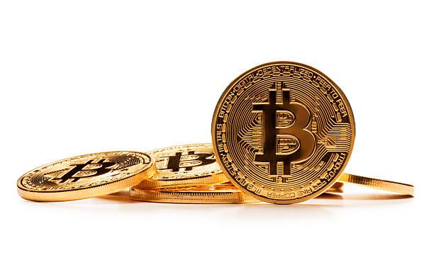 Bitcoin on White stock photo