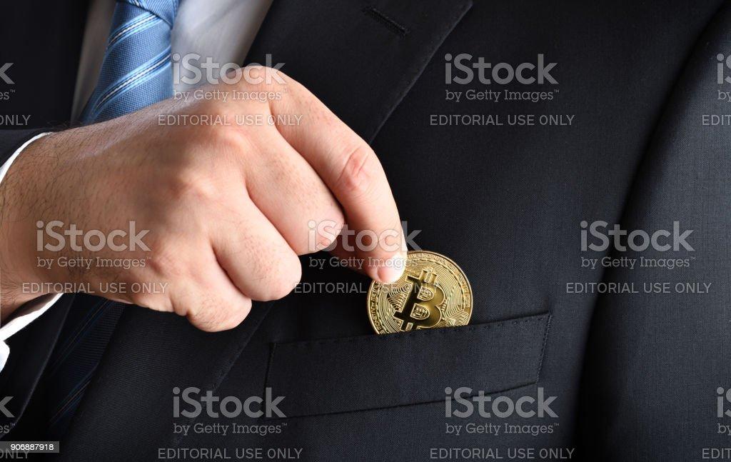 Bitcoin savings stock photo