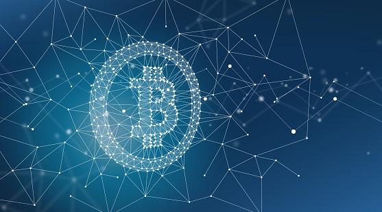 944923496 istock photo Bitcoin Symbol and Blockchain Network Graphic Background 1178266323