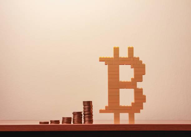 Bitcoin symbol stock photo