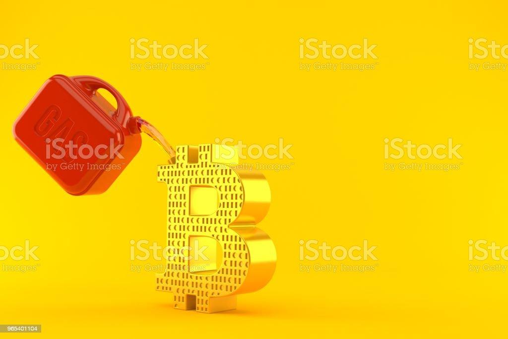 Bitcoin symbol with gasoline can zbiór zdjęć royalty-free