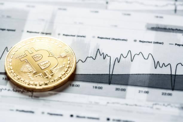 Las técnicas de Trading de Bitcoin - foto de stock