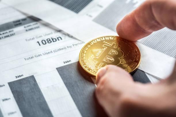 Bitcoin Trading Techniquies - foto de stock