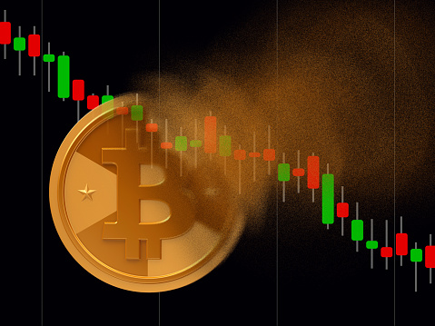 Bitcoin Turns To Dust Stock Photo - Download Image Now