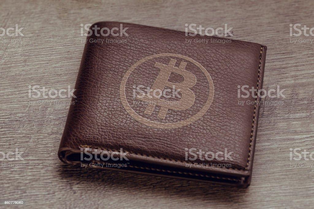 Bitcoin wallet stock photo