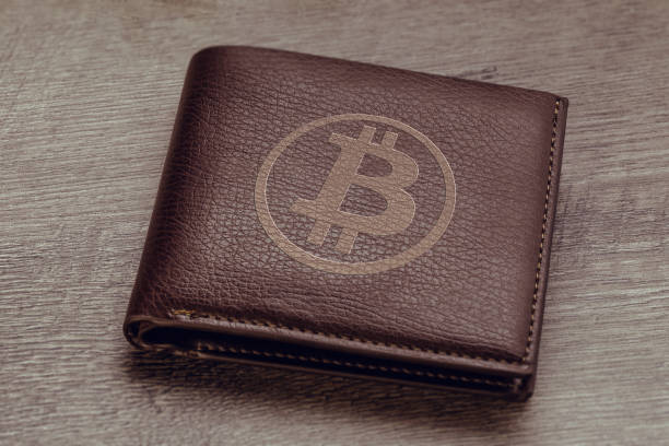 Bitcoin wallet stock photo