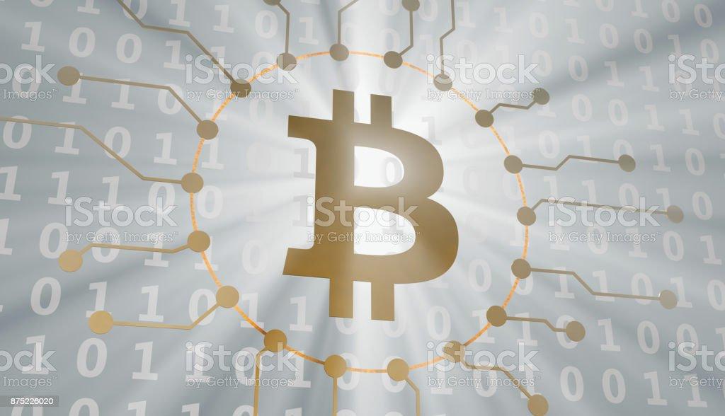 Bitcoin com código de computador - foto de acervo
