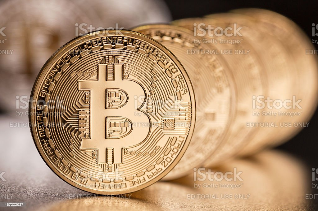 Bitcoins - foto de stock