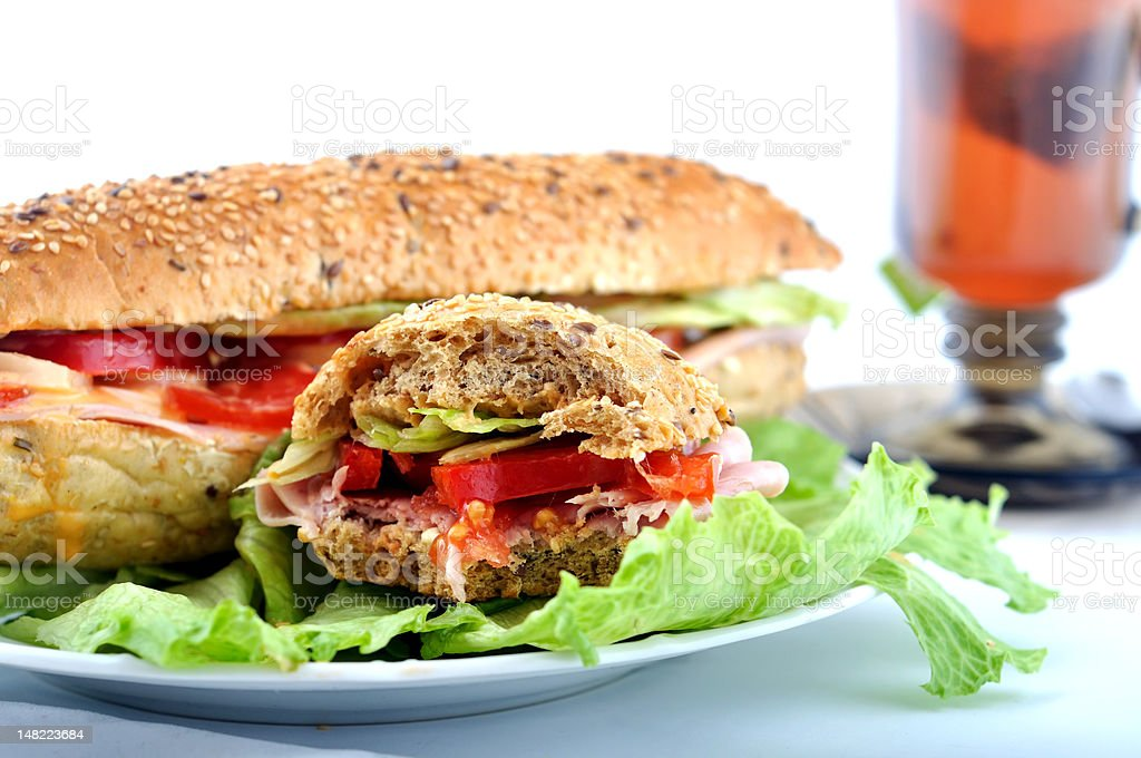 Bite fresh sandwich royalty-free stock photo