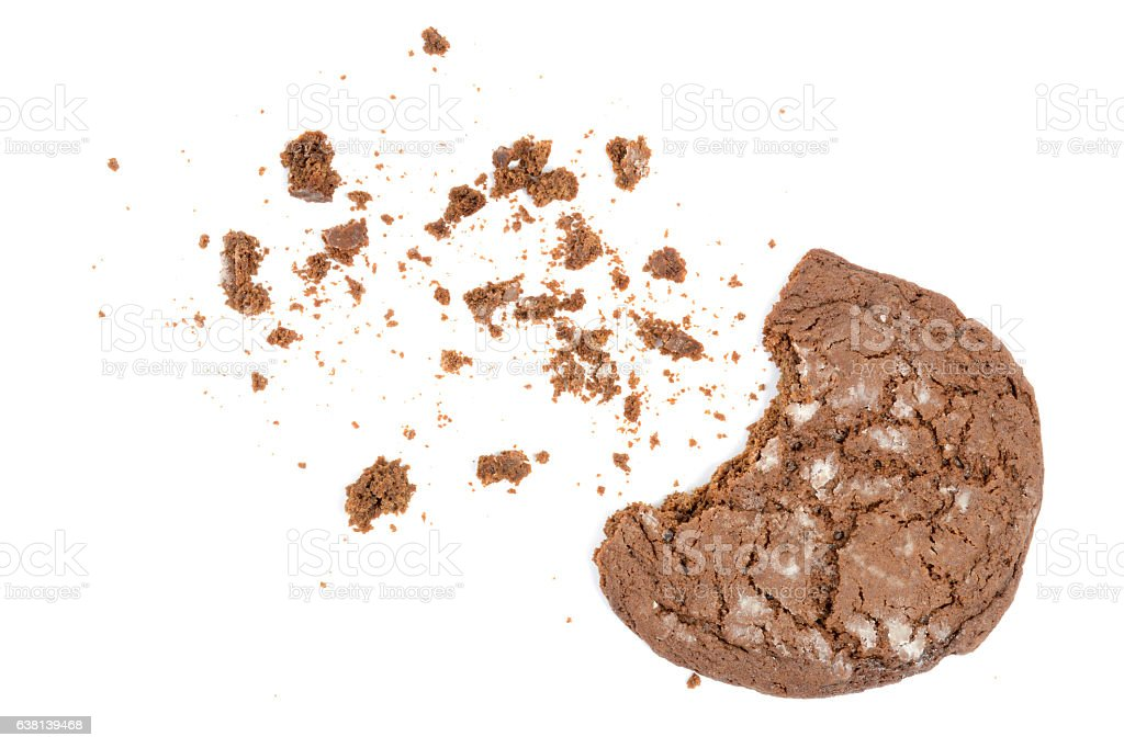 Bite of Gingerbread stock photo