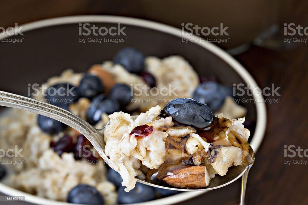 Bite Of Oatmeal stock photo