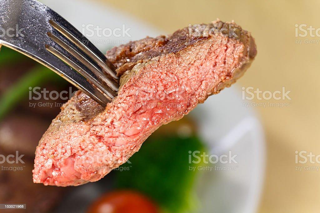 Bite Of Steak,Chunk royalty-free stock photo