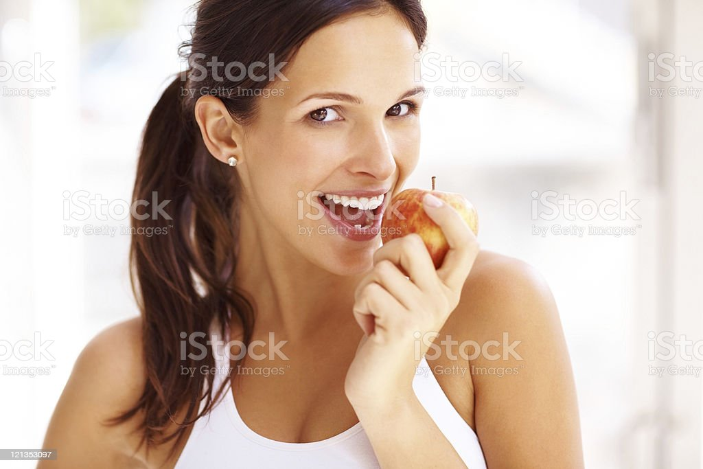 Bite of the apple  Adult Stock Photo
