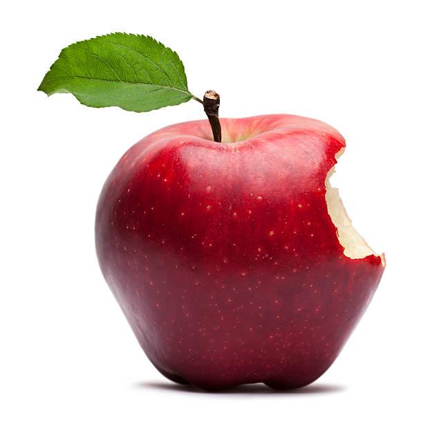 bite on a red apple - 咬 個照片及圖片檔