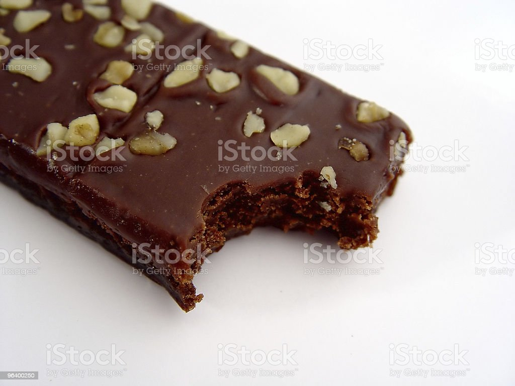 Bite out of a Brownie stock photo