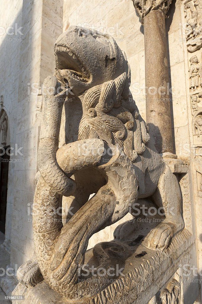 Bitetto (Bari, Puglia, Italy) - Old cathedral in Romanesque style royalty-free stock photo