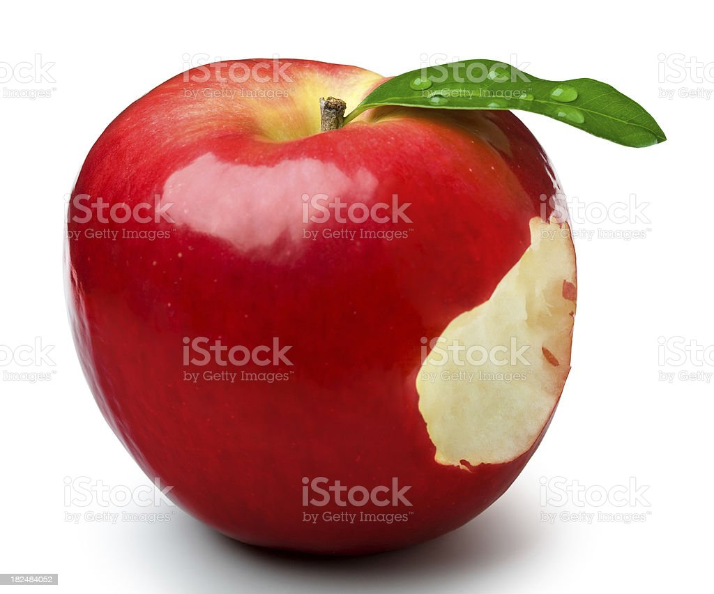 Biting apple royalty-free stock photo