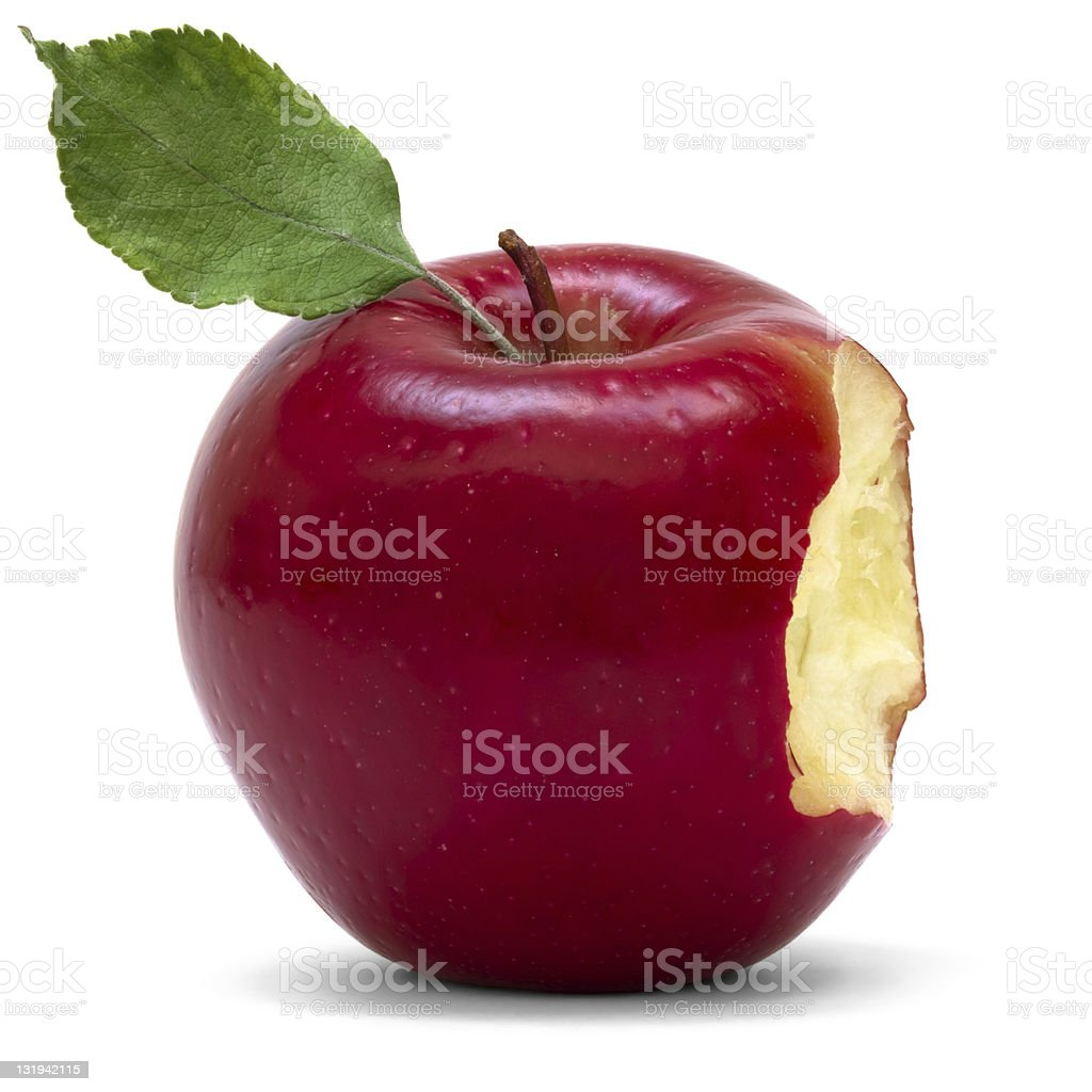 bitten apple royalty-free stock photo