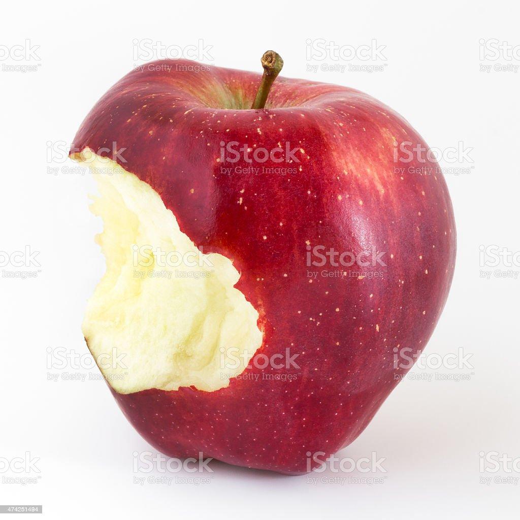 Bitten apple stock photo
