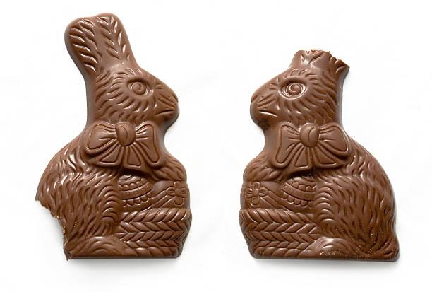 Bitten Easter Bunnies stock photo