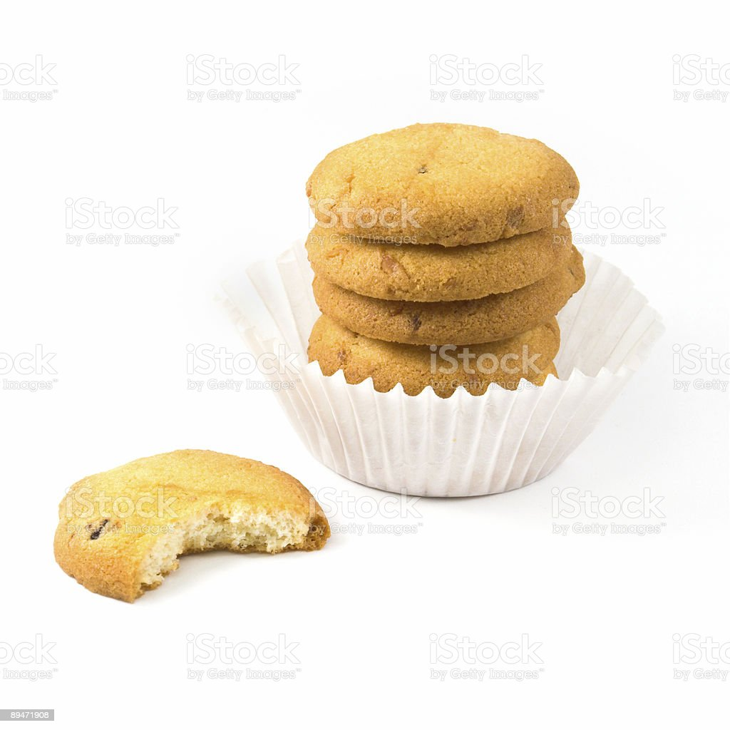 Bitten off cookie royalty-free stock photo