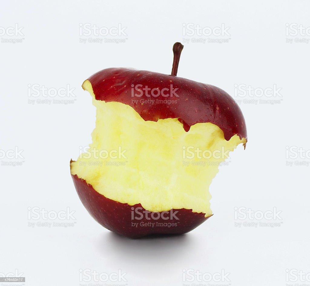 Bitten red apple stock photo